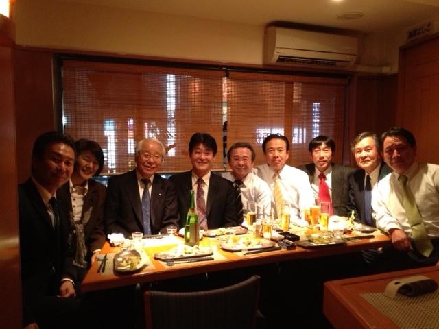 勉強会後 井戸知事と会食