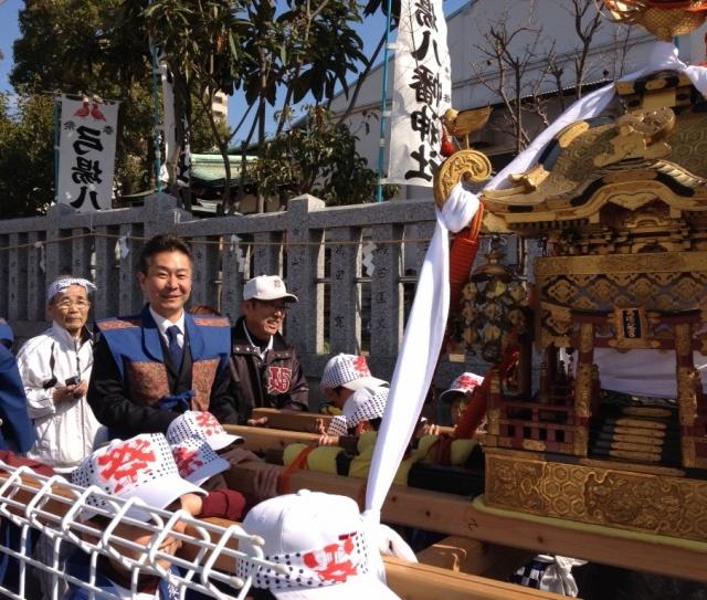 弓場八幡神社のお祭り